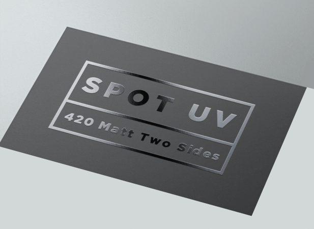 kertas untuk kartu nama uv spot