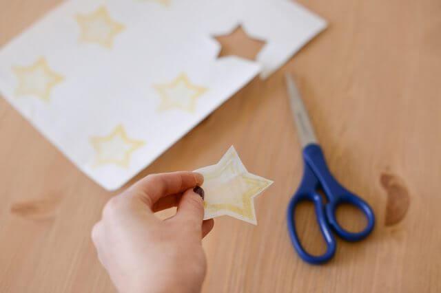 potong jenis kertas stiker