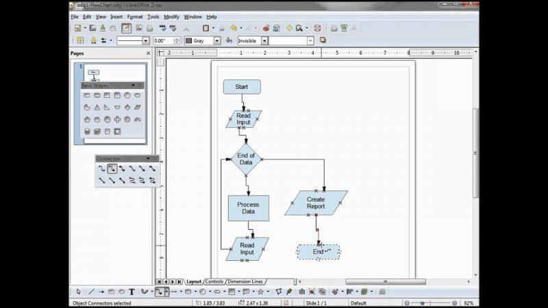 software desain grafis - LibreOffice Draw