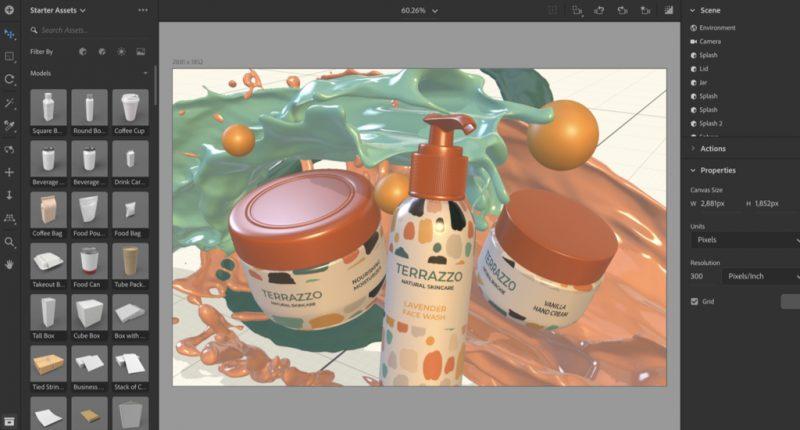 software desain grafis - adobe dimension