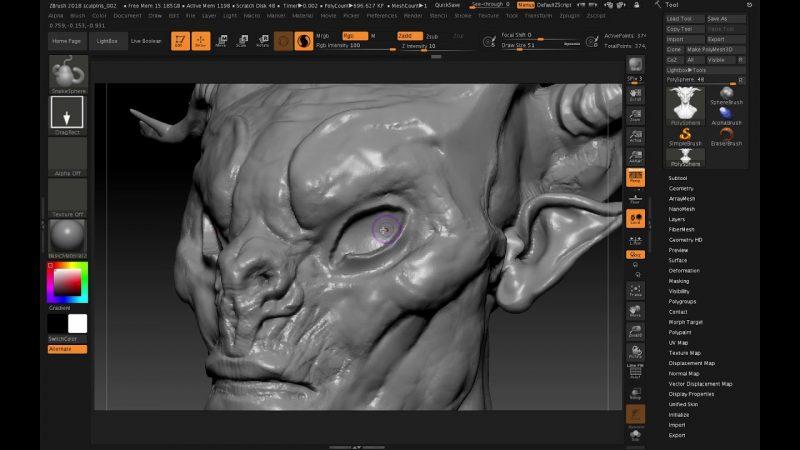 software desain grafis - sculptris