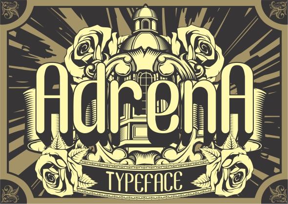 Adrena Typeface