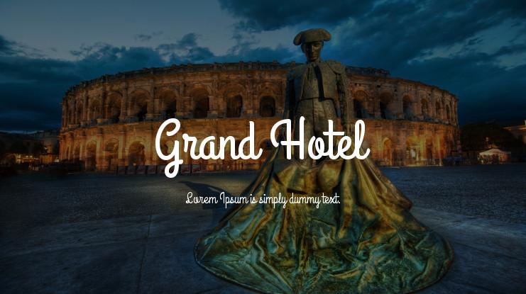 font tegak bersambung - Font Grand Hotel