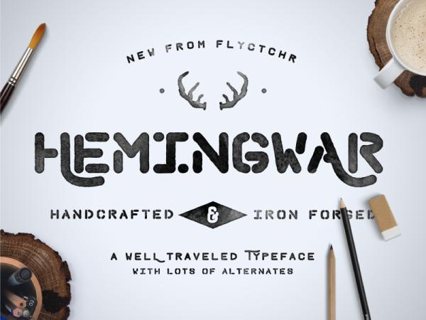 font tipografi - Font Hemingwar
