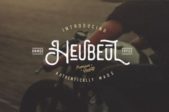 font tipografi - Font Heubeul