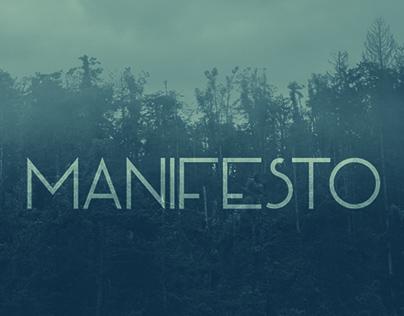 font tipografi - Font Manifesto
