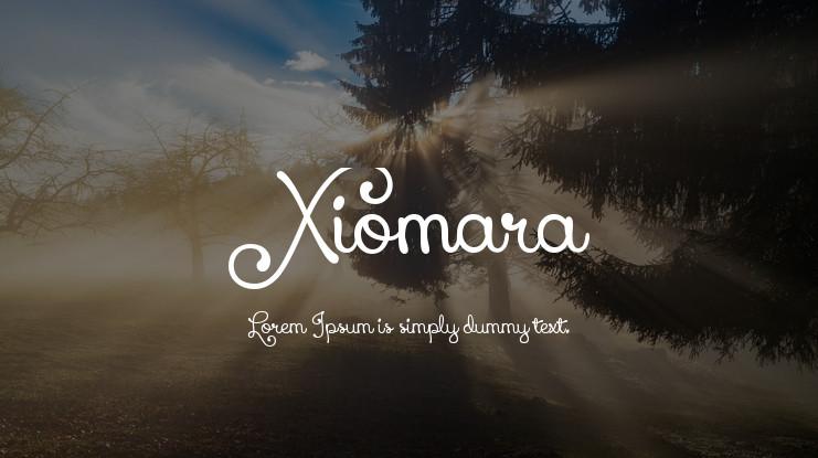font tegak bersambung - Font Xiomara