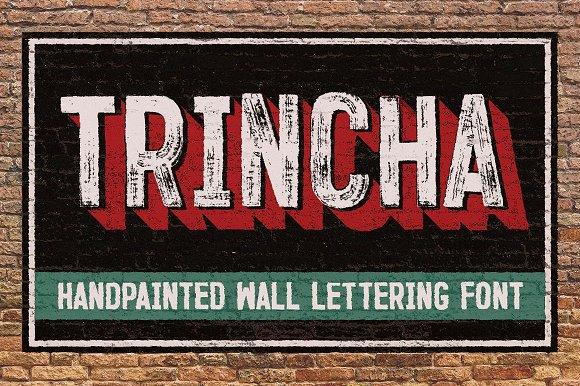 font tipografi - Tipografi Trincha