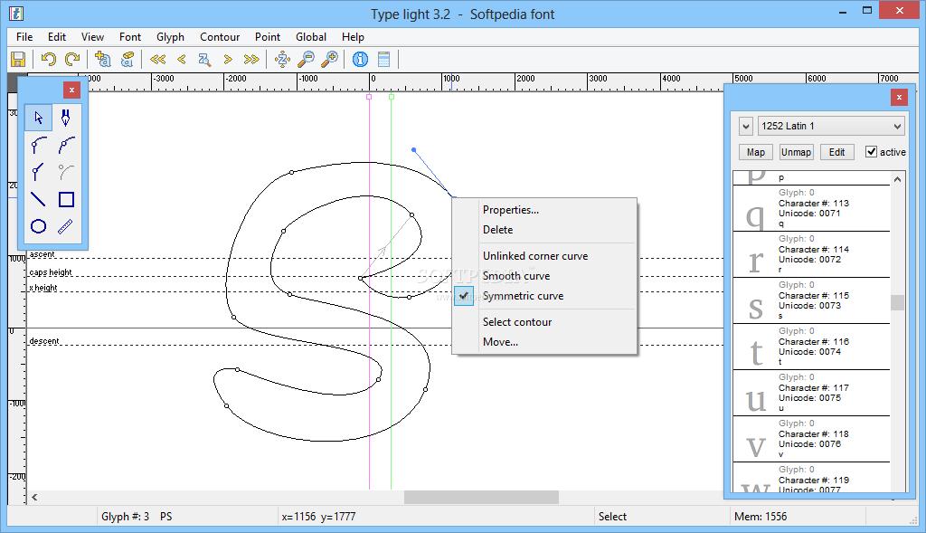cara membuat font - Type Light