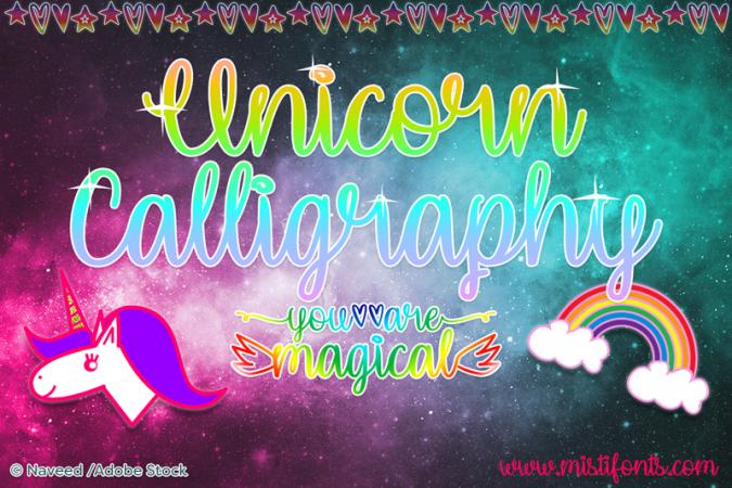 Unicorn Calligraphy Font