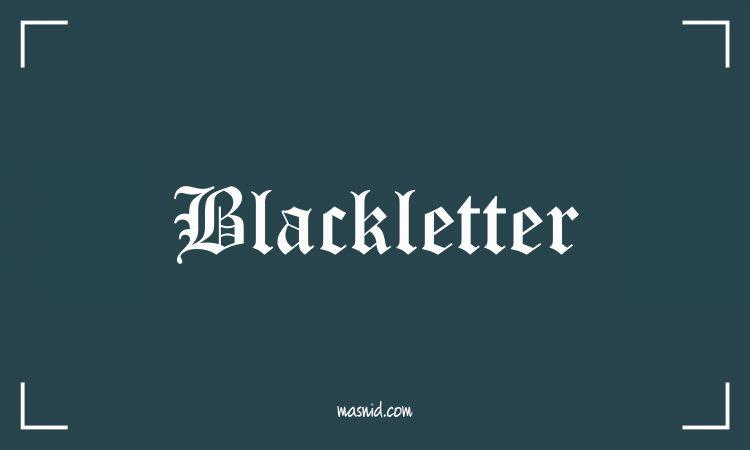 font blackletter