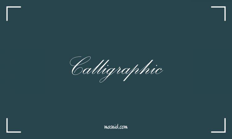 font calligraphic