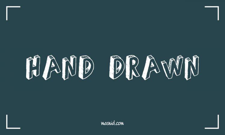font hand drawn