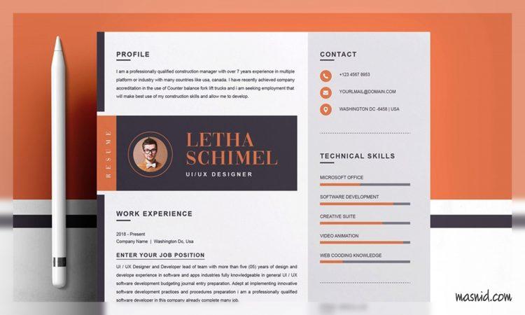 font resume terbaik