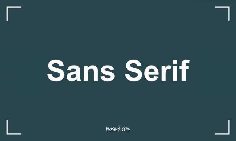 jenis jenis font - font sans serif