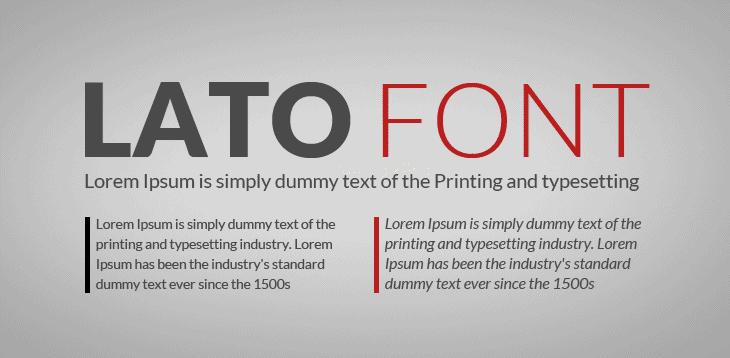 font resume terbaik - lato