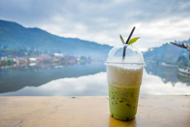 cara membuat teh tarik green tea