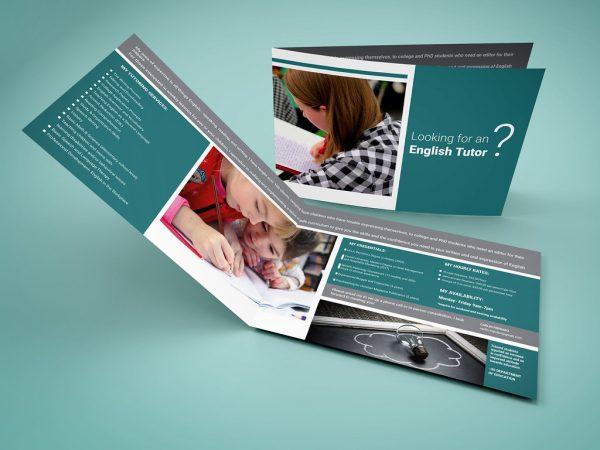 contoh brosur bimbel