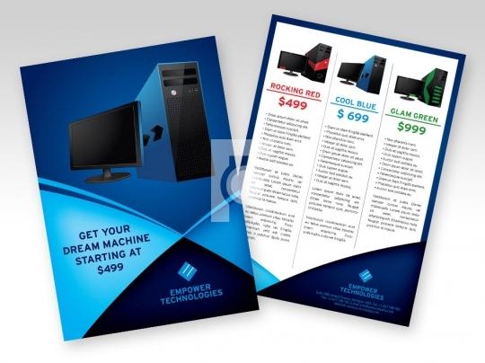 contoh brosur komputer