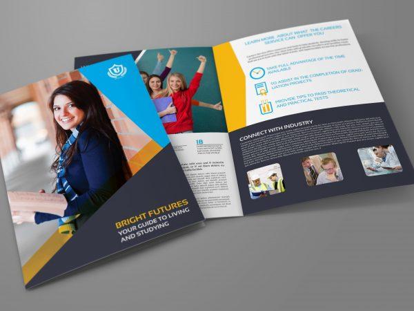 contoh brosur universitas