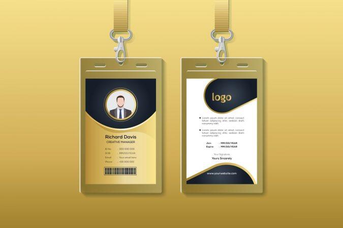 contoh desain id card 2